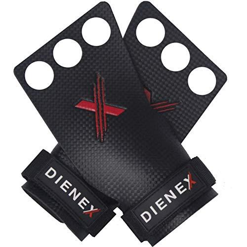 DIENEX Exess Grips 3H - Calleras para Crossfit, Calistenia, Dominadas, Muscleups, Kettlebell, Guantes Gimnasio Hombre y Mujer, Pesas, Fitness, Gimnasia, Pullups
