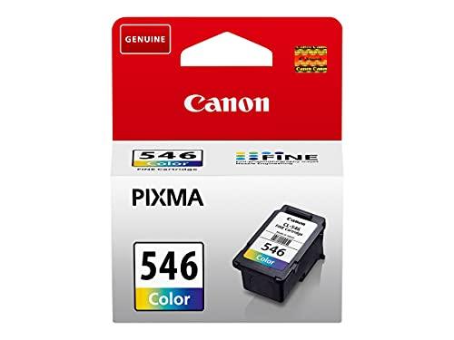Canon CL-546 -8ML- Color (Cian, Agenta, Amarillo) - Original - Cartucho de Tinta - compatible con Pixma MG2550, MG2555, MG2950, MG3050, MG3051, MG3052, MG3053, MX495, TS3150, TS3151