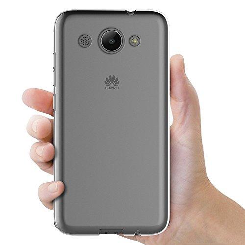 MaiJin Hülle für Huawei Y3 2017 (5 Zoll) Crystal Clear Durchsichtige Backcover Handyhülle TPU Case - 3