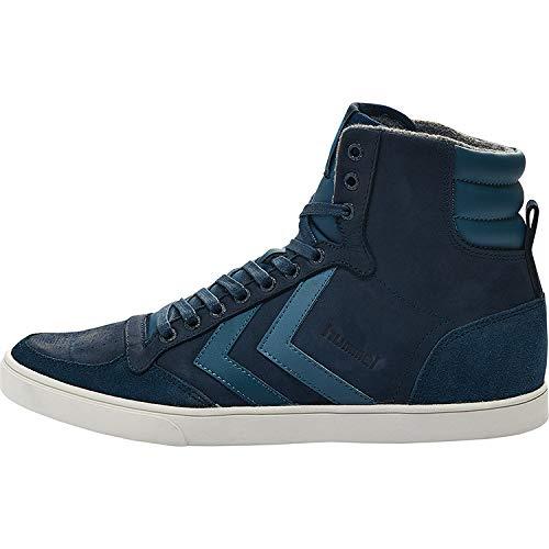 hummel Herren Slimmer Stadil Duo Oiled High Hohe Sneaker, Peacoat, 40 EU