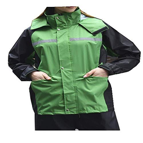 N/X Chubasquero verde fluorescente, pantalón de lluvia dividido para adulto, moto eléctrica...