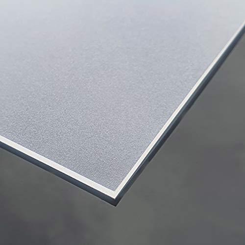 Transparente PVC Folie Einseitig Mattiert Tischdecke 2mm dick Breite & Länge wählbar - Eckig 90 x 160 cm [+ Toleranz] abwischbar Schutztischdecke Tischschutz Made in Germany