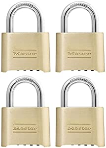 Master Lock Padlock, Set Your Own Combination Lock, 2 in. Wide, 175D (Pack of 4)