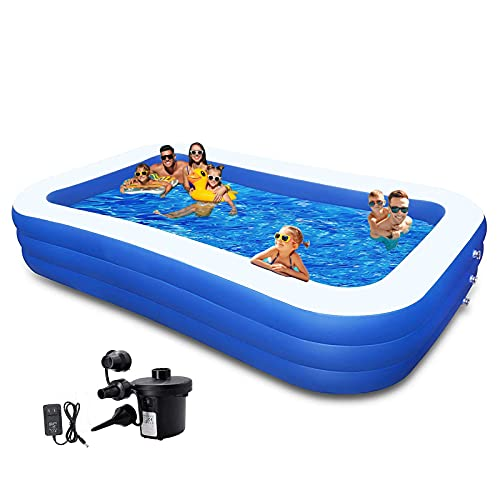 swimming pools for toddlers 10ft Kiddie Pool Inflatable Swimming Pool Above Ground Pool with Pump 120