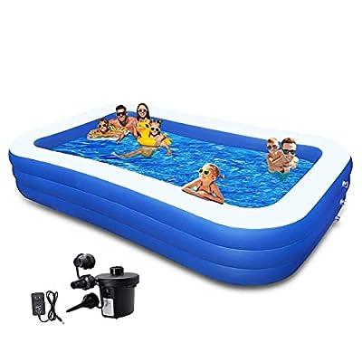 Amazon - 50% Off on 10ft Kiddie Pool Inflatable Swimming Pool Above Ground Pool