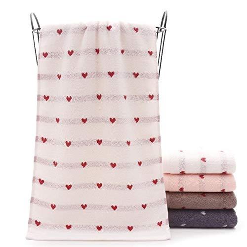 Xiaobing Toalla Suave de algodón Puro para Adultos Toalla de baño para niños del hogar Toalla de Cara Toalla de baño para Parejas -4-75x35cm