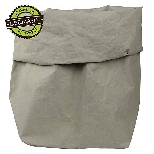 papyrMAXX wasmand Stuff - duurzaam XXXL oprolbare mand van wasbaar papier 0,55 cm dik I 35x30x62 cm opslagmand voor bad - en kinderkamer etc. I cadeauzak planten planter stone
