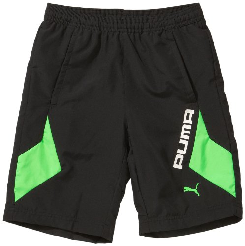 PUMA Jungen Hose Cell Training Woven Longer Shorts, Black, 128, 824125 02