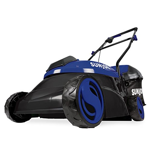 Sun Joe MJ401C-XR-SJB 14-Inch 28V 5 Ah Cordless Lawn Mower w/Brushless Motor, Dark Blue