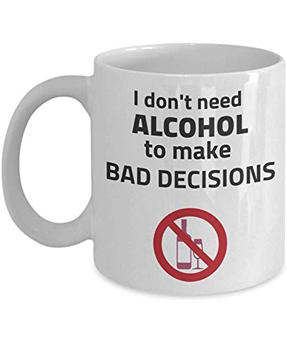 Wijn-drankenschaal grappig alcohol-koffiemok alcoholvrije theekop nee-alcohol koffiemok alcoholvrije mok cadeau alcoholische tiener vrienden