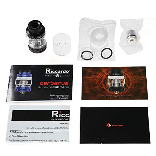 GeekVape Cerberus Super Mesh Tank 4/5,5 ml, Durchmesser 27 mm, Riccardo Verdampfer für e-Zigarette, schwarz