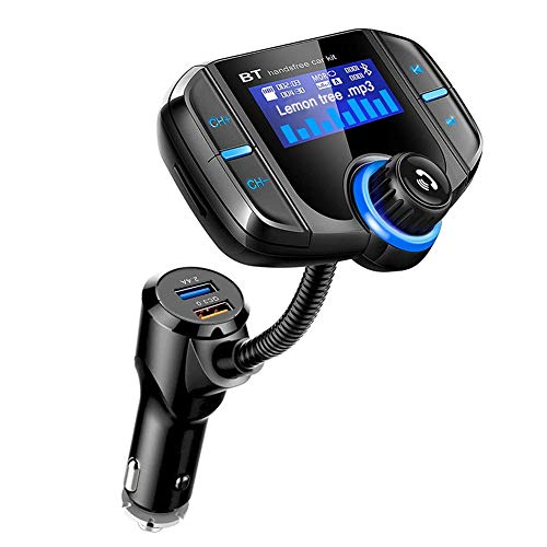 TwiHill BT70 Car Charger FM Transmitter Car Radio Bluetooth Kit Dual USB QC3.0 Wireless MP3 Player Charger Adapter Hands-Free BT Tuner FM Modulator