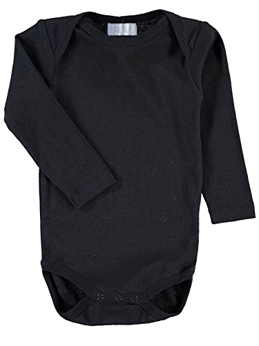 Max und Mia Baby Langarm Body einfarbig schwarz (86/92 47cm lang 23cm breit)