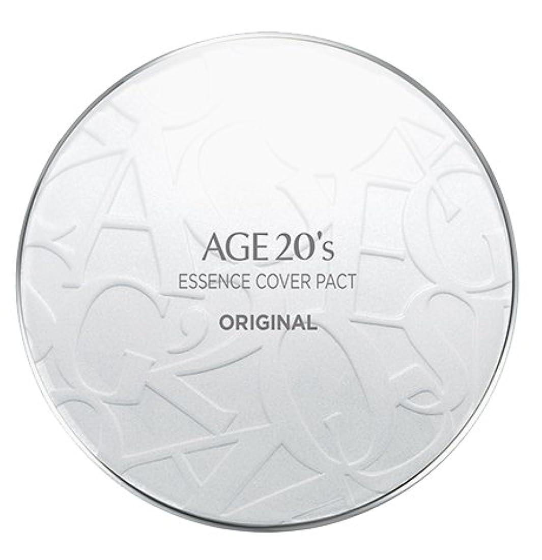 菊オープニングいとこAGE 20's Essence Cover Pact Original [White Latte] 12.5g + Refill 12.5g (#21)/エイジ 20's エッセンス カバー パクト オリジナル [ホワイトラテ] 12.5g + リフィル 12.5g (#21) [並行輸入品]