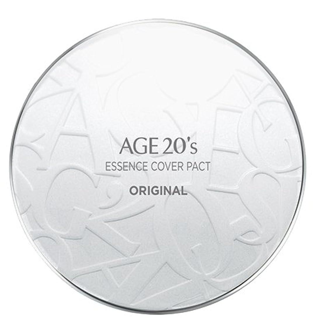 努力リスキーなアシストAGE 20's Essence Cover Pact Original [White Latte] 12.5g + Refill 12.5g (#21)/エイジ 20's エッセンス カバー パクト オリジナル [ホワイトラテ] 12.5g + リフィル 12.5g (#21) [並行輸入品]