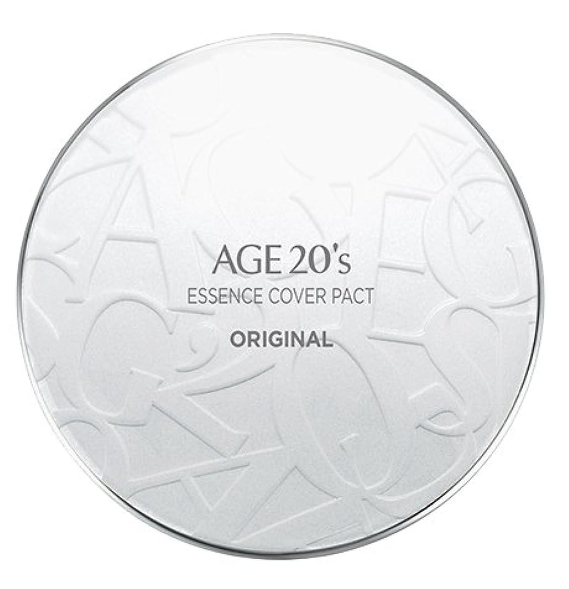 昼間センチメンタル考えたAGE 20's Essence Cover Pact Original [White Latte] 12.5g + Refill 12.5g (#21)/エイジ 20's エッセンス カバー パクト オリジナル [ホワイトラテ] 12.5g + リフィル 12.5g (#21) [並行輸入品]