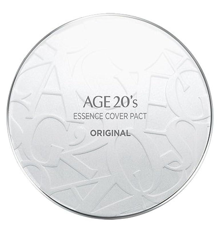 直面する法廷頑固なAGE 20's Essence Cover Pact Original [White Latte] 12.5g + Refill 12.5g (#21)/エイジ 20's エッセンス カバー パクト オリジナル [ホワイトラテ] 12.5g + リフィル 12.5g (#21) [並行輸入品]