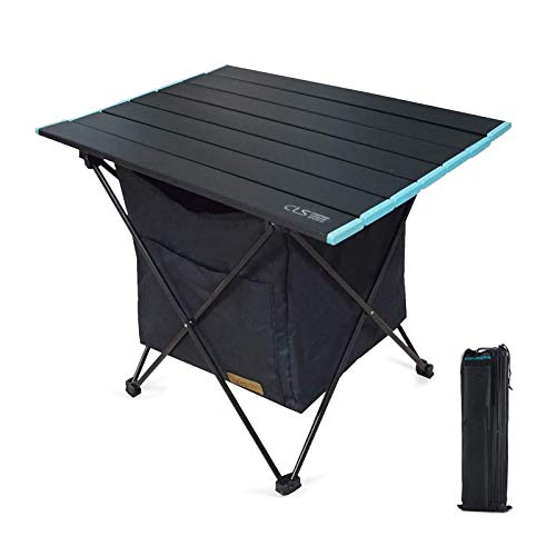 Galatée Table de Camping Pliante Compacte en Aluminium Table Pliable Portable Légère avec Sac de Transport pour Camping, Pique-Nique, Barbecue, randonnée,Voyage Facile à Nettoy(M)