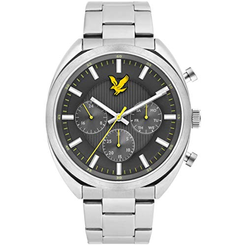 Lyle & Scott Men's Tevio Xe 44mm Steel Bracelet & Case Quartz Watch LS-6016-11