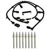 MOBYCA Glow Plug Connector Wire Harness 6.0 Powerstroke Compatible with 2004-2010 Ford 6.0 Powerstroke F-250 F-350 F-450 E-350 E-450 Super Duty #4C2Z-12A690-BA 5C3Z-12A690-A