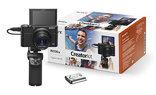 Sony RX100 III Creator Kit - Premium compacte digitale camera (20,1 MP, 7,6 cm (3 inch) display, 1 inch sensor, 24-70 mm F1.8-2.8 lijnobjectief, WiFi, NFC) (DSC-RX100M3G) + VCT-SGR1 handgreep, zwart