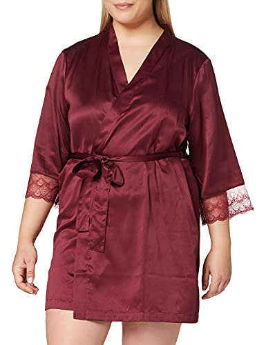 Amazon-Marke: Iris & Lilly Damen Bademantel Amz19fwr03, Rot (Red), XS, Label: XS