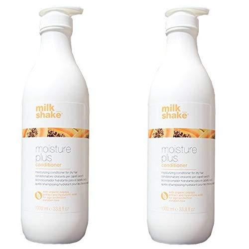Milkshake moisture plus conditioner DUO PACK 2 x 1000 ml feuchtigkeitsspendende Klimaanlage für trockenes Haar mit Papaya Extrakt 2000 ml Lieferung kostenlos