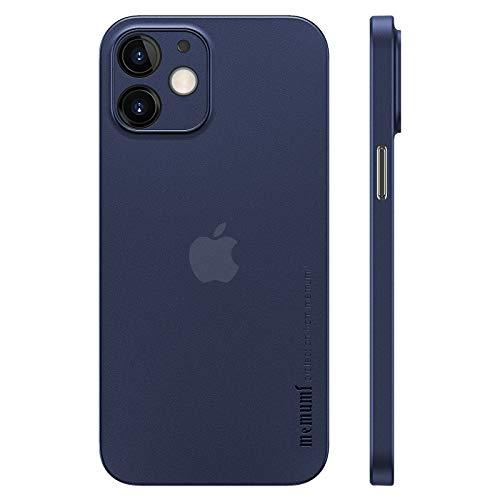 memumi Hülle für iPhone 12 Mini, Mehrweg 0.3 mm dick, Slim Fit, Mattes Finish [rutschfest, Kratzfest]. Schutzhülle Extra Dünn Hardcase kompatibel mit iPhone 12 Mini -Trans-Blue (5.4 inch, 2020)