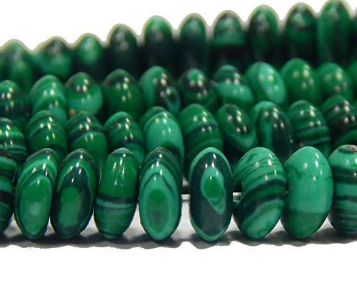 Perlas de malaquita, 6 mm, redondas, sintéticas, para bisutería, pulseras, collares, 20 unidades, G594
