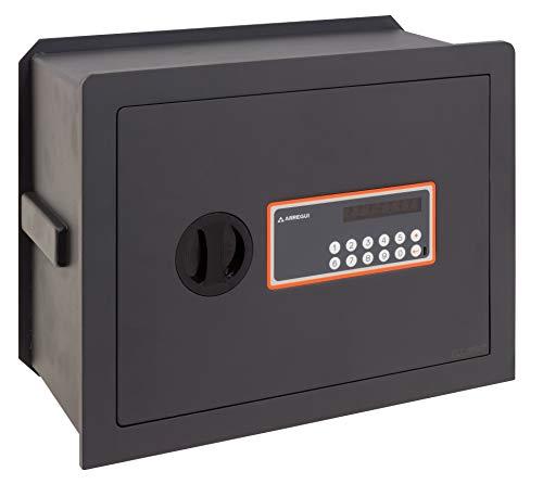 Arregui Plus C Electrónica 181150 Caja fuerte de empotrar, 10+3 mm de espesor, apertura electrónica, con fondo regulable, 32x42x20 a 30 cm, 15 a 26 L