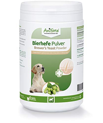 AniForte Brewer's Yeast 500g - Suitable for Dogs & Pets - With Vitamin B, E & H, For Healthy Skin and Shiny Coats