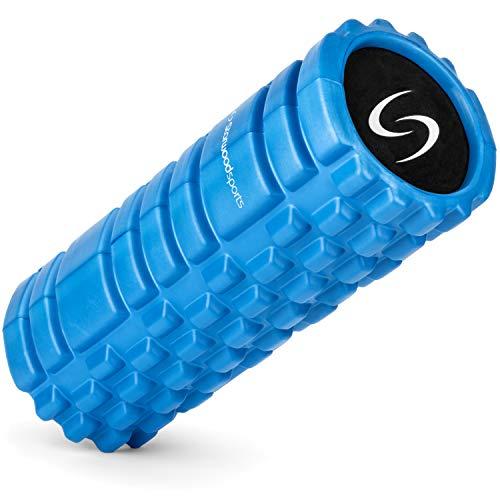 Starwood Sports Foam Roller - Rodillo para masaje muscular - Rulo pilates - Fisioterapia - Masajes de tejido profundo con puntos gatillo - Alivia dolores de espalda, cuello y pantorrillas - Azul