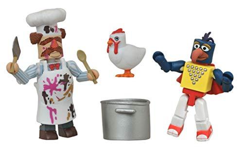 Minimates- The Muppets- Stunt Show Gonzo & Batter Damaged Swedish Chef