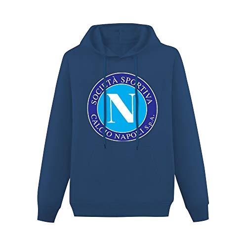 Napoli SSC Retro Crest Pullover Sudaderas clásicas Sudaderas con capucha con bolsillo canguro con capucha azul marino 2XL