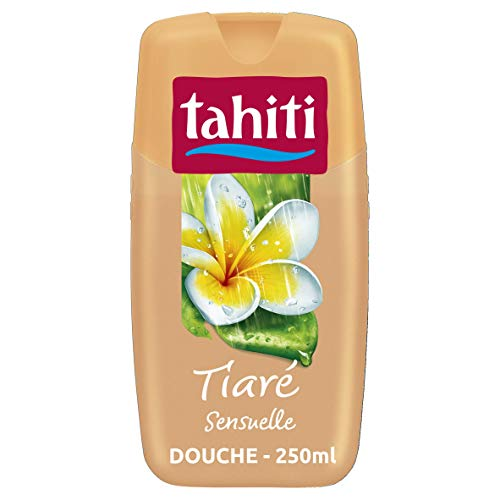 TAHITI - Gel douche Tahiti Tiaré Sensuelle - pH Neutre - Respecte la Barrière de Protection Cutanée Naturelle - Flacon de 250 ml