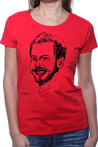 Mister Merchandise Ladies Frauen Damen T-Shirt Sebastian SEB Vettel, Größe: M, Farbe: Rot