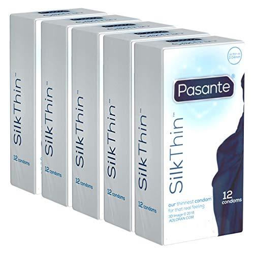 Pasante zijde dun - 60 (5x12) extreme dunne condooms - speciale aanbieding