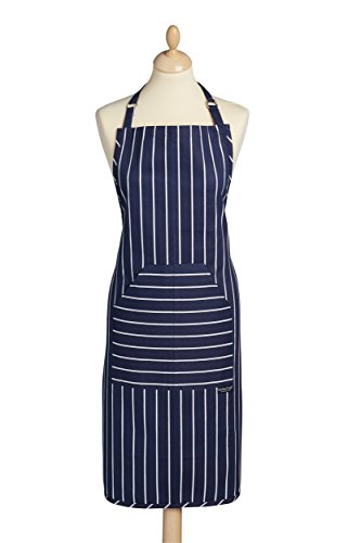 Kitchen Craft KCBSAPRONBLU Kochschürze, 90x60cm, blau gestreift