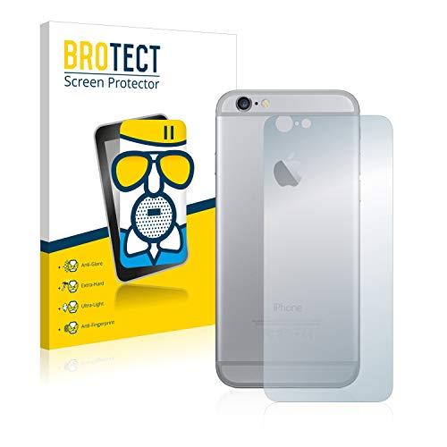 BROTECT Protector Pantalla Cristal Mate Compatible con Apple iPhone 6 Trasera (Superficie...