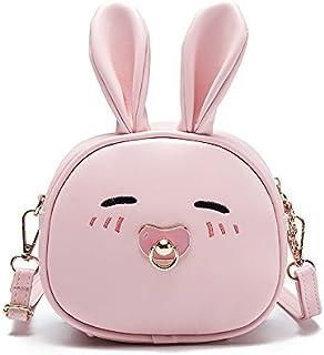 Pinky Family Super Cute Girls Purse Bunny Ear Shoulder Bag Messenger Bag and Backpack (pattern 2 pink)