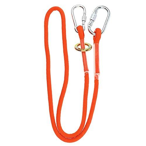 Fallschutz Absturzsicherung Polyester Bandschlinge Auffanggerät mit Legierungsstahl Karabinerhaken für Outdoor Baumklettern Bergsteigen Rettungsdienst (3 m,C-stil)