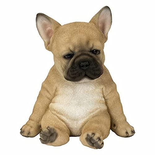 Shuxing Sleepy French Bulldog Puppy Statue Resin Lawn Sculpture Super Cute Garden Yard Decor