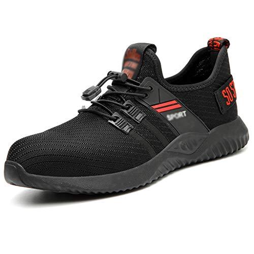avis leses barre de son professionnel Chaussures de sécurité ZYFXZ homme Baskets à embout acier Chaussures de sécurité au travail légères…