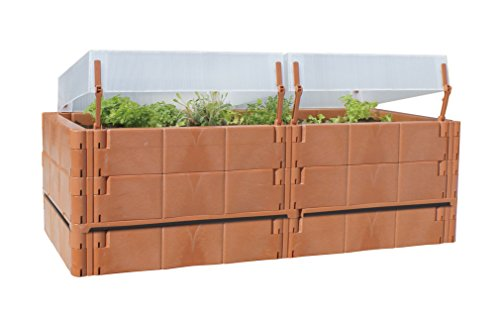 Preisvergleich Produktbild Juwel Balkon Hochbeet Terassenbeet Pflanzen terracotta 20275