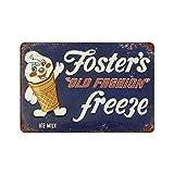 YYFF Fosters Old Fashion - Cartel de metal vintage para decoración de pared, diseño de café, bar, pub, cerveza, cartel de lata de 30,5 x 8 pulgadas (L)