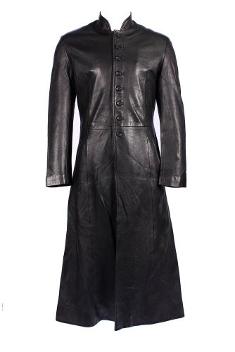 Smart Range - Reloaded Pleine Longueur Matrix Réel Long Cuir Veste Manteau - Homme - Taille : XS - Couleur : Noir