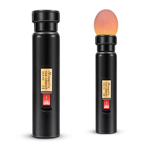 Magicfly, ovoscopio, linterna LED de luz de alta intensidad para mirar huevos, lámpara para verificar la incubación, huevos de aves de corral con batería
