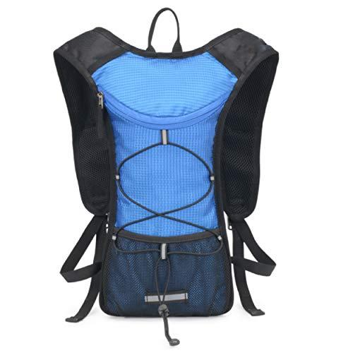 TRIWONDER Mochila de hidratación ultraligera para correr, para maratón, montañismo, ciclismo (azul, solo chaleco)