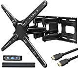 Fozimoa TV Wall Mounts Bracket for Most 28-86 Inches TVs, Full Motion Wall Mount with Swivel, Mount with Swivel Articulating Arm, Max VESA 600x400mm.
