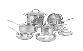 Cuisinart 77-11G Chef s Classic Stainless 11-Piece Cookware Set - Silver